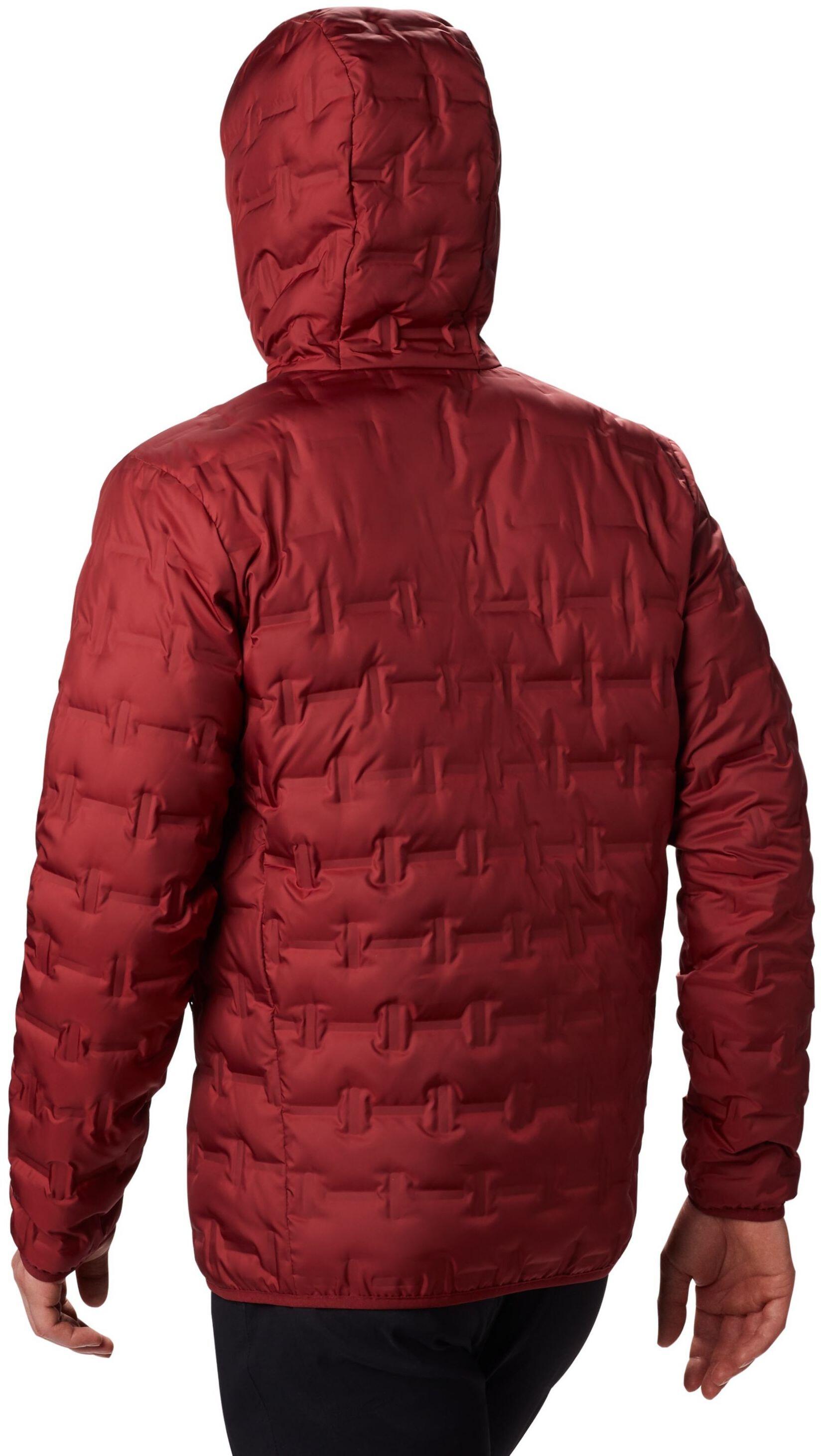 Columbia Delta Ridge Giacca piumino con cappuccio Uomo, red jasper  1040882 6v0B6